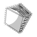 Imagem grossa branca do ícone do livro ilustração stock