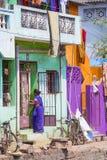 Imagem ilustrativa editorial Casa colorida indiano Fotografia de Stock Royalty Free