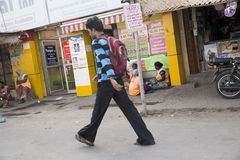 Imagem ilustrativa editorial Casa colorida indiano Imagem de Stock