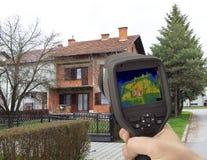 Imagem infravermelha da fachada da casa Fotos de Stock Royalty Free