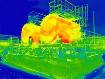 Imagem infravermelha de dois tanques imagens de stock royalty free