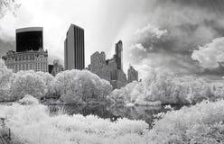 Imagem infravermelha do panorama do Central Park Foto de Stock Royalty Free