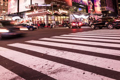 Imagem intencionalmente borrada de New York City, twillight Imagem de Stock Royalty Free