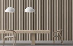 Imagem interior da rendição 3d da sala de jantar contemporânea moderna Ilustração Royalty Free