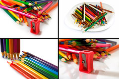 Imagem isolada de lápis coloridos foto de stock royalty free