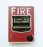 Imagem isolada do alarme de incêndio fotos de stock royalty free