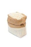 Imagem isolada saco do arroz Fotografia de Stock Royalty Free