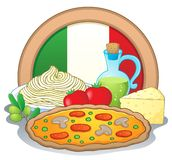 Imagem italiana 1 do tema do alimento Imagem de Stock