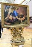 Imagem lindo de David e colosso, quadro e na exposição, o Louvre, Paris, França, 2016 Fotografia de Stock Royalty Free