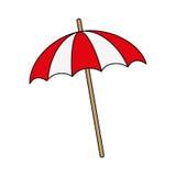 Imagem listrada do ícone do parasol ilustração royalty free