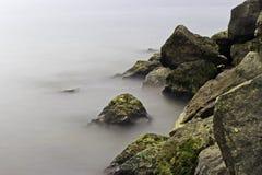 Beira-rio enevoado de Toronto fotografia de stock