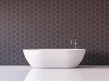 Imagem luxuosa moderna da rendição do banheiro 3d Foto de Stock