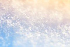 Imagem macro dos flocos de neve Fotografia de Stock