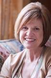 Imagem madura da mulher w/positive Fotografia de Stock