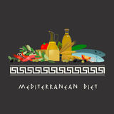 Imagem mediterrânea da dieta Imagens de Stock Royalty Free