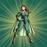 Senhora 2 do super-herói Imagem de Stock Royalty Free