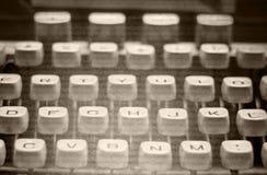 Imagem monocromática da máquina de escrever velha Fotografia de Stock