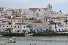 Ferragudo, o Algarve, Portugal, Europa Imagem de Stock