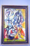 Imagem Pablo Picasso Big Heads no museu Fotografia de Stock