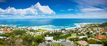 Imagem panorâmico da cidade de Cape Town Fotos de Stock Royalty Free
