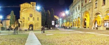 Imagem panorâmico da exposição longa de S Stefano Square em histórico Fotografia de Stock Royalty Free