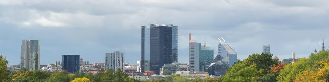Imagem panorâmico do outono de Tallinn Fotos de Stock Royalty Free