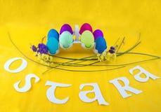 Imagem para a celebração de Ostara fotografia de stock