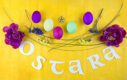 Imagem para a celebração de Ostara fotos de stock