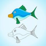 Imagem para colorir ilustração stock