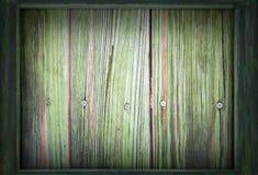 Imagem para o dia de St Patrick o 17 de março Um quadro de madeira verde cerca um fundo de madeira verde Vinheta adicionada fotografia de stock royalty free
