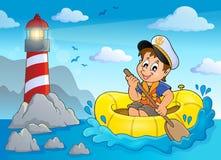Imagem pequena 3 do tema do marinheiro Imagens de Stock