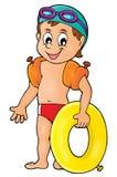 Imagem pequena 1 do tema do nadador Imagens de Stock Royalty Free