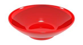 Imagem plástica vermelha da bacia do prato ilustração stock