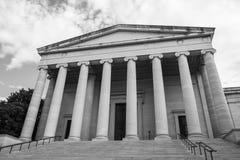 Imagem preto e branco da fachada do National Gallery da arte fotos de stock royalty free