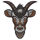 Imagem principal do vetor da cabra no fundo branco fotografia de stock