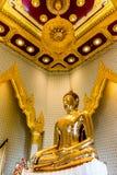 Imagem pura da Buda do ouro em Wat Traimit, Banguecoque, Tailândia Imagens de Stock Royalty Free