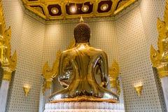 Imagem pura da Buda do ouro em Wat Traimit, Banguecoque, Tailândia Imagem de Stock Royalty Free