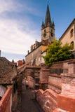 Igreja de Evanghelical em Sibiu fotografia de stock