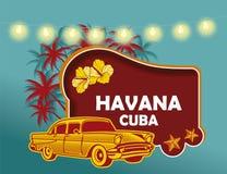 Imagem que refere a cidade de Havana em Cuba imagens de stock