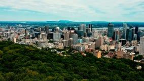 Imagem regional do zangão de montreal Canadá no por do sol fotografia de stock royalty free