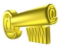 Imagem rendida da chave estilizado do ouro Imagens de Stock