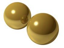 Imagem rendida das esferas de bronze Fotografia de Stock