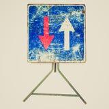 Imagem retro do sinal do olhar imagens de stock