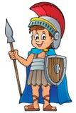 Imagem romana 1 do tema do soldado Imagens de Stock