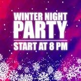 Imagem roxa do vetor do fundo do partido 8PM da noite do inverno Fotos de Stock Royalty Free