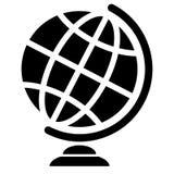 Imagem simbólica do globo geográfico Ícone do Web Imagens de Stock Royalty Free