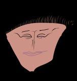 A imagem simplificada de um rosto humano com cor diferente eyes Ilustração do Vetor