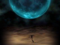 Imagem surreal do planeta ilustração do vetor
