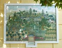 Imagem telhada bonita de jardins botânicos de Malaga Imagem de Stock Royalty Free