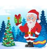 Imagem temático 5 de Papai Noel Imagens de Stock Royalty Free